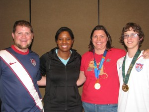 Blitz President Lydia Beals with USWNT Soccer Legend Briana Scurry